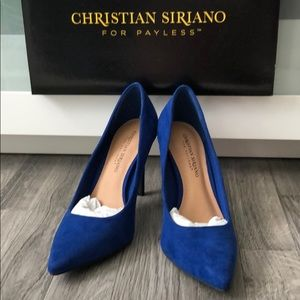 Cobalt Blue high heels size 8.5